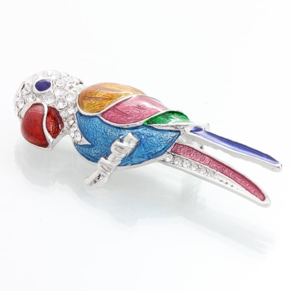 Parrot Swarovski Elements bross - Laura Bruni