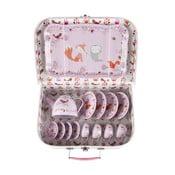 Dětský růžový piknikový kufřík Sass & Belle Woodland Friends