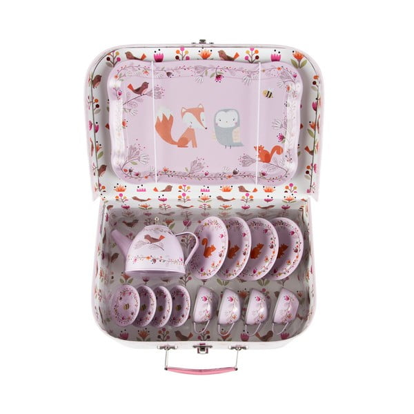 Detský ružový piknikový kufrík Sass & Belle Woodland Friends