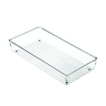 Organizator transparent pentru bucătărie iDesign Linus, 30,5x15cm