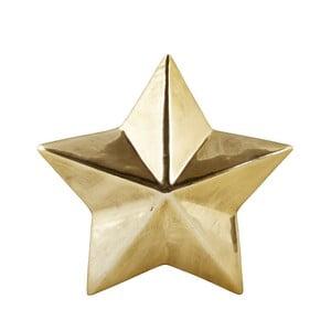 Dekorativní keramická hvězda ve zlaté barvě KJ Collection Ceramic Gold