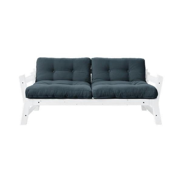 Canapea extensibilă Karup Design Step White, albastru petrol