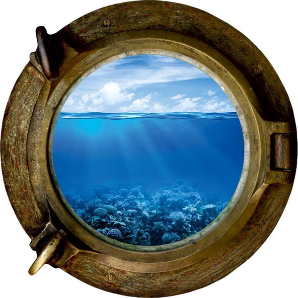 Autocolant de perete Ocean Light, 33 x 33 cm