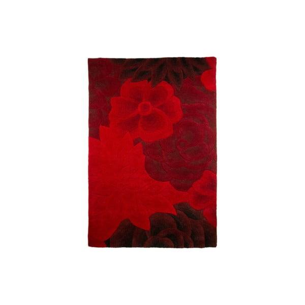 Vlněný koberec Eden 120x180 cm, červený