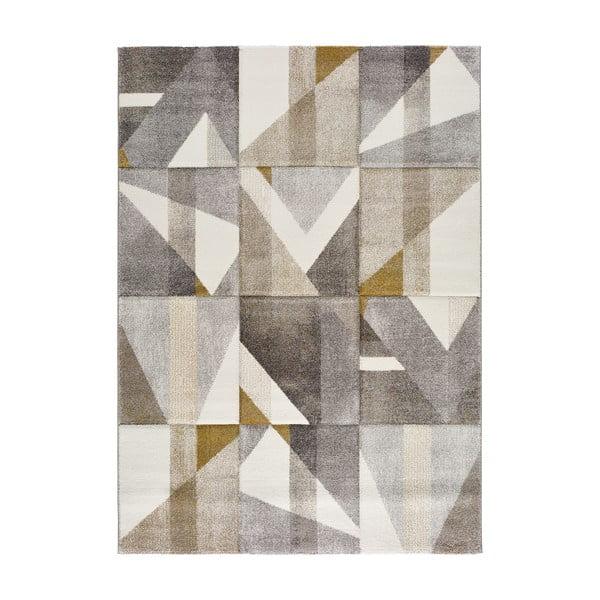 Bianca Dice szürke-sárga szőnyeg, 120 x 170 cm - Universal