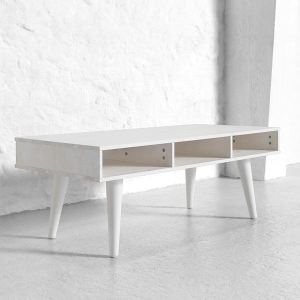 Konferenční stolek Says Who for Karup Dance White se zásuvkami Cool Grey