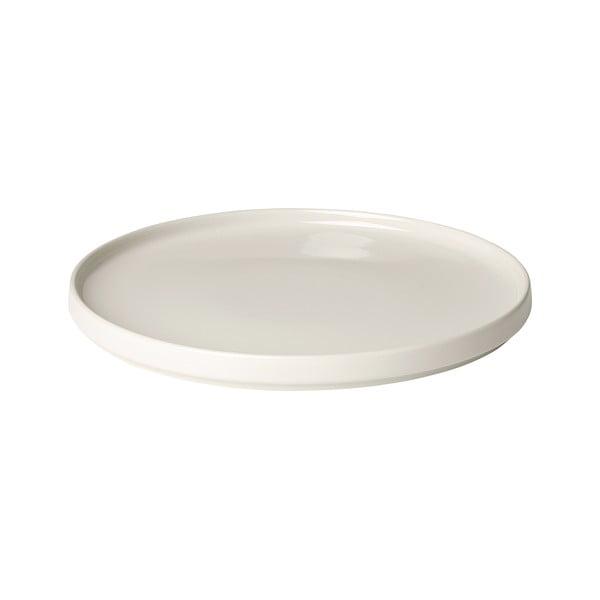 Bílý keramický mělký talíř Blomus Pilar