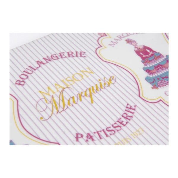 Talířek na dort Marquise se servírovací lžící, 37x17 cm