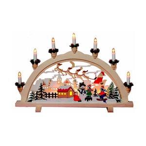 Svítící dekorace Santa in Town