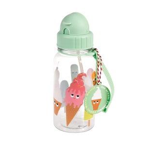 Dětská láhev na pití s brčkem Rex London Ice Cream Friends, 500ml