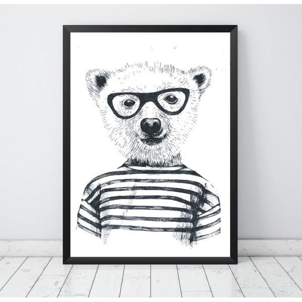 Plakát Nord & Co Hipster Bear, 40 x 50 cm