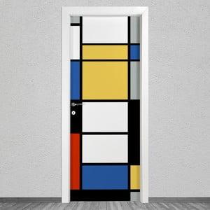 Samolepka na dveře LineArtistica Mondrian 2, 80 x 215 cm