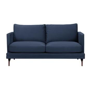 Canapea cu 2 locuri şi picioare metalice aurii Windsor & Co Sofas Jupiter albastru închis