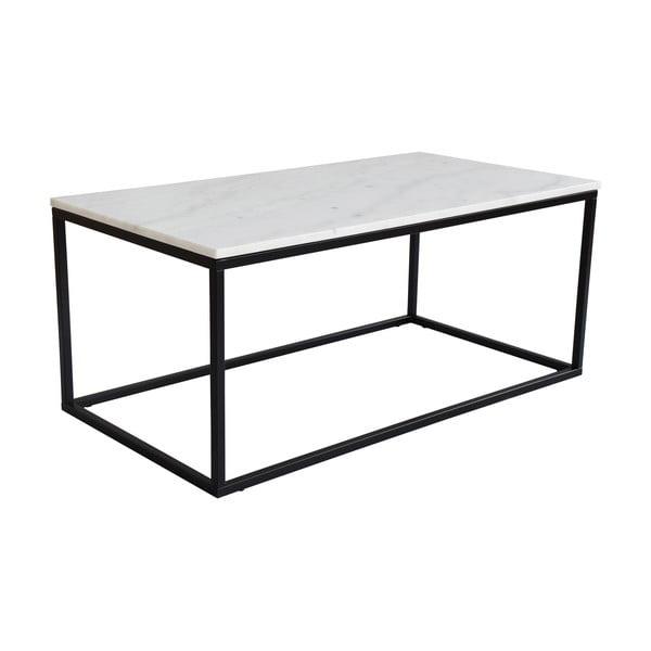 Bílý mramorový konferenční stolek s podnožím v černé barvě RGE Marble