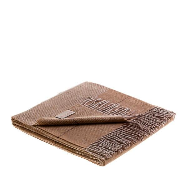 Vlněný pléd Murano 130x180 cm, hnědý
