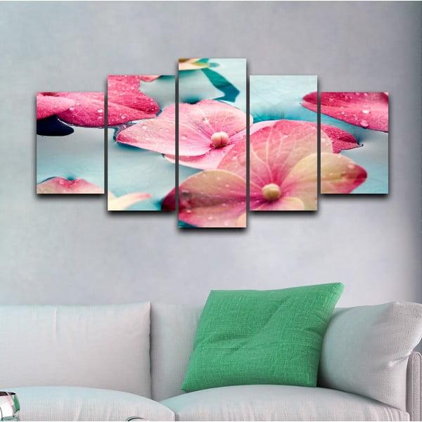 5dílný obraz Krása květů