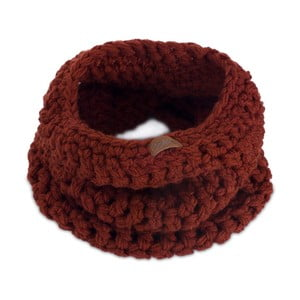 Eșarfă rotundă tricotată manual DOKE Marsala