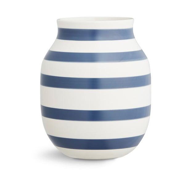 Modro-biela kameninová váza Kähler Design Omaggio, výška 20 cm
