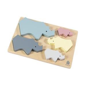 Dětské dřevěné puzzle Sebra Rhino