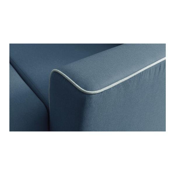 Námořnicky modrá rozkládací pohovka Bobochic Paris Mola, pravý roh