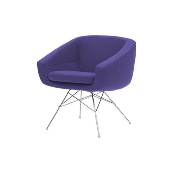 Fioletowy fotel Softline Aiko Vision Lilac
