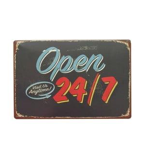 Cedule Open 24, 20x30 cm