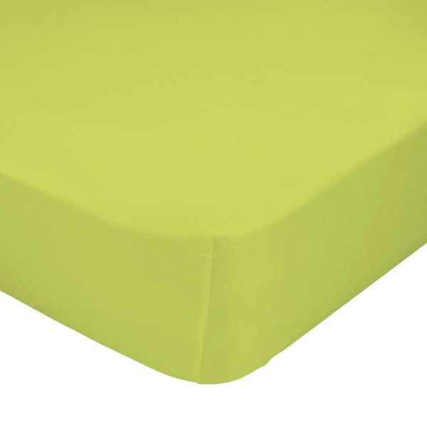 Zelené elastické prostěradlo Happynois, 70x140 cm