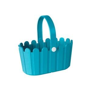 Květináč Landhaus Basket Turquoise