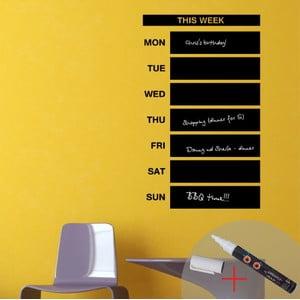 Tabulová samolepka Weekly Calendar + bílý fix