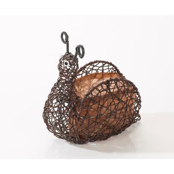 Dekorativní ratanový květináč Brown Snail