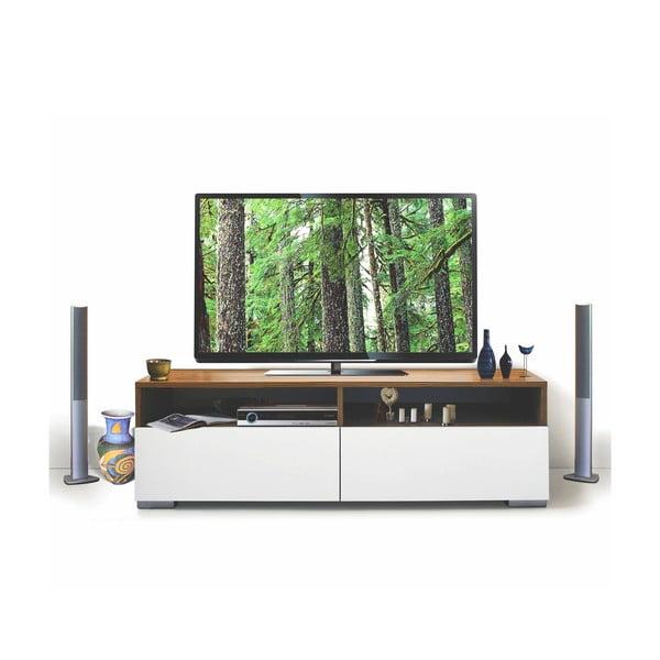 Televizní stolek Deco, bílý/samba