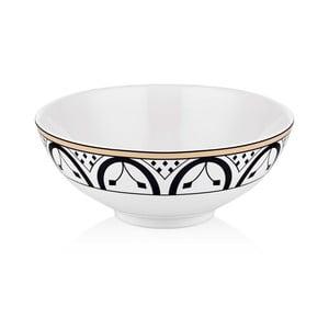 Černobílá miska z kostního porcelánu The Mia Maroc Fez, ⌀ 20 cm