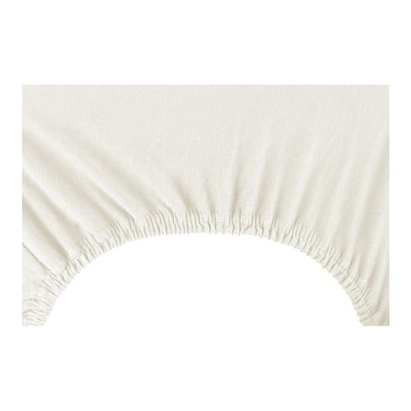 Krémově bílé prostěradlo DecoKing Amber Collection, 220-240 x 200 cm