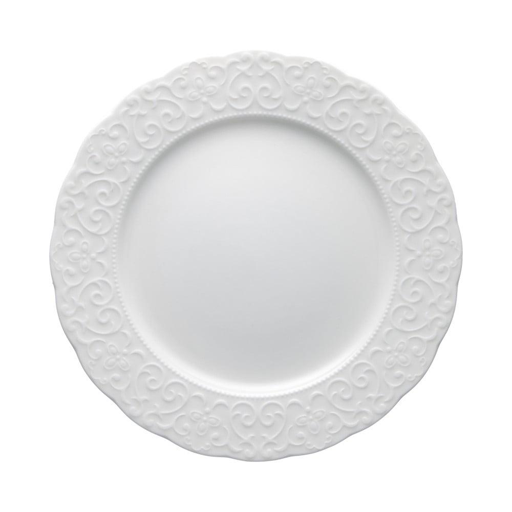Bílý porcelánový talíř Brandani Gran Gala, ⌀25cm Brandani