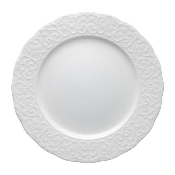 Bílý porcelánový talíř Brandani Gran Gala, ⌀25cm