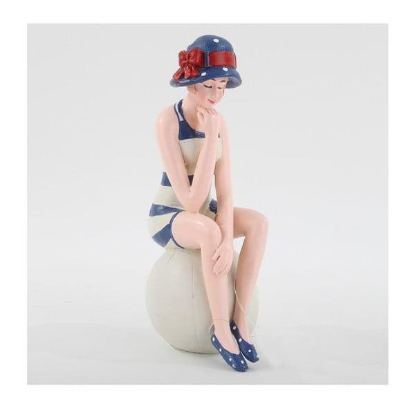 Dekorativní figurka Dáma v pruhovaných plavkách