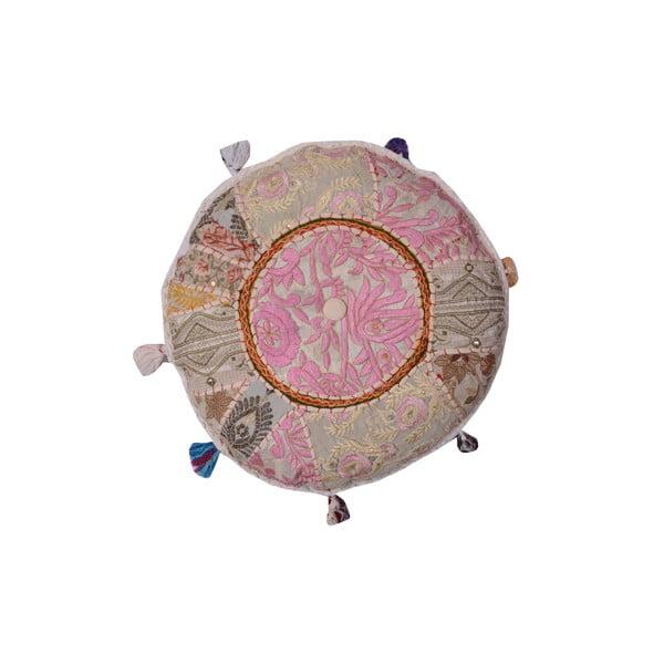 Puf s ruční výšivkou Suelo, 40 cm