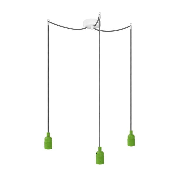 Tři závěsné kabely Uno, zelená/černoílá/bílá