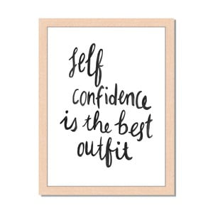 Obraz v rámu Liv Corday Scandi Seld Confidence, 30x40cm