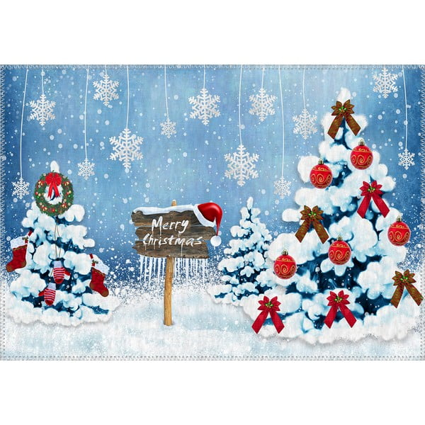 Dywan Vitaus Christmas Period Snowy Nature, 50x80 cm