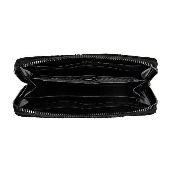 Černá kožená peněženka Mangotti Bags Hermosa