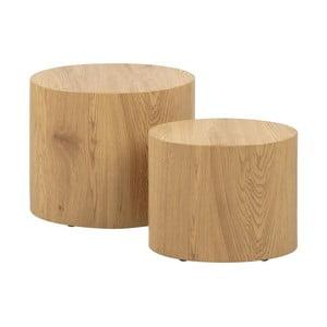 Sada 2 odkládacích stolků v dekoru dřeva Actona Mice