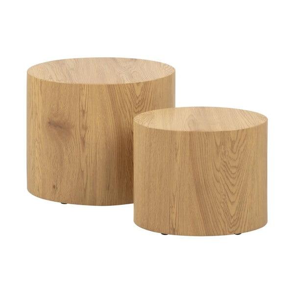 Zestaw 2 stolików w dekorze drewna Actona Mice