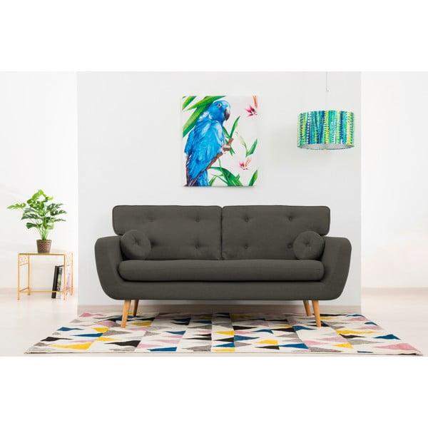 Canapea cu 3 locuri Vivonia Malva, gri închis