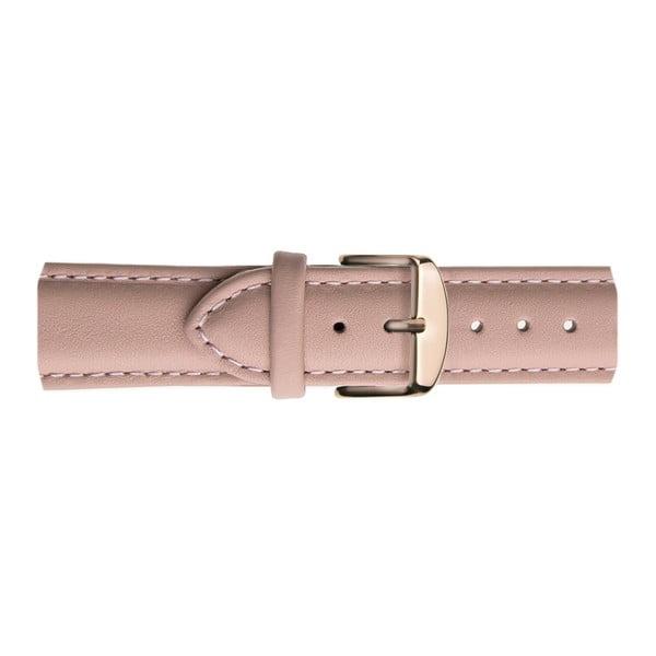 Dámské hodinky s růžovým páskem z pravé kůže Frederic Graff Parsio