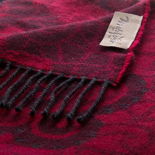 Vlněný pléd Rubino 130x180 cm, červený