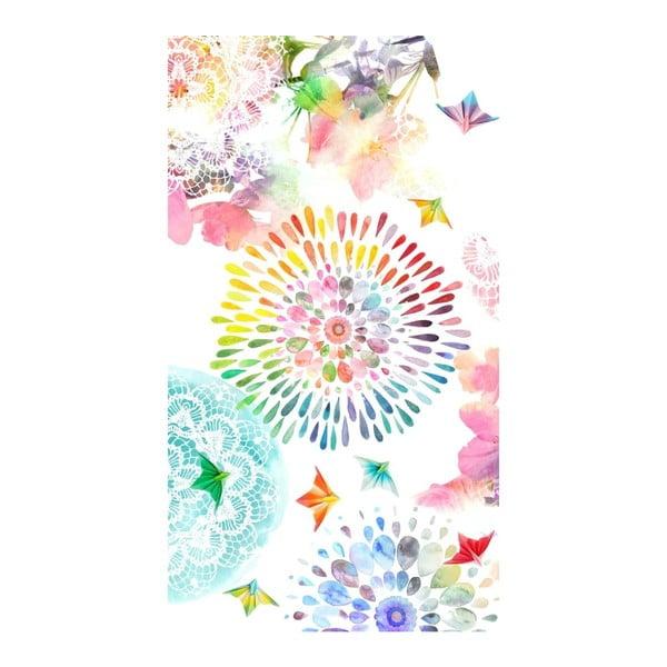 Elessa strandtörölköző nyomtatott mintával, 100 x 180 cm - HIP