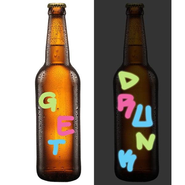 Světélkující značovače na skleničky Graffiti