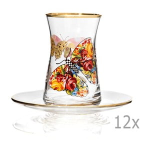 Sada 12 sklenic s podšálkem Mezzo Pandaren, 100 ml