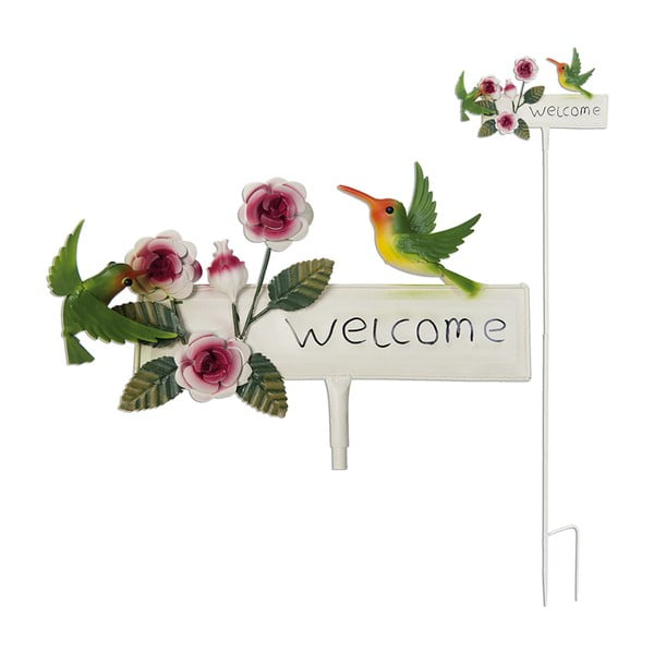 Zapichovací cedule na zahradu Welcome, 119 cm